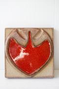 北欧ヴィンテージ/SOHOLM(スーホルム)/陶板の壁掛け/リンゴ