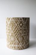 北欧照明/ランプシェード/ミナペルホネン/刺繍/サンドカラー(Φ17cm×20cm)