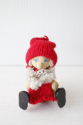【クリスマス】北欧ヴィンテージ/ニッセ/編み物している女の子