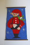 【クリスマス】北欧ヴィンテージ/ポストカード入れ壁掛け/ニッセの郵便屋さん