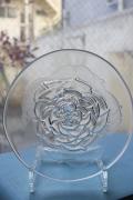 北欧ヴィンテージ/iittala(イッタラ)/Villiruusu/ガラスプレート