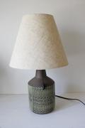 北欧照明/スウェーデン製/Alingsas Keramik社/ヴィンテージテーブルランプ/モスグリーン