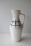 ドイツヴィンテージ/花瓶/ホワイト×ブラウン