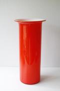 北欧ヴィンテージ/Holmegaard/Palet/ガラスの花瓶/レッド
