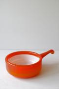 北欧ヴィンテージ/Holmegaard(ホルムガード)/Palet/ガラスの片手鍋/レッド