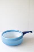 北欧ヴィンテージ/Holmegaard(ホルムガード)/Palet/ガラスの片手鍋/ブルー(大)