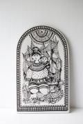 北欧ヴィンテージ/Bjorn Wiinblad(ヴョルン・ウィンブラッド)/飾りプレート/North/母子とネコ