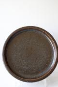 北欧ヴィンテージ/Palshus(パルシュス)/丸皿/チョコレートブラウン