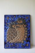 北欧ヴィンテージ/Aluminia/Royal Copenhagen/テネラ/鳥の陶板の壁掛け/SOLD OUT