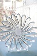 北欧ヴィンテージ/ガラスのデコレーション皿