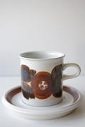 北欧ヴィンテージ/ARABIA/Ulla Procope(ウラ・プロコッペ)/Rosmarin/コーヒーカップ&ソーサー