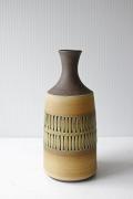 北欧ヴィンテージ/花瓶/幾何学模様/ベージュ/SOLD OUT