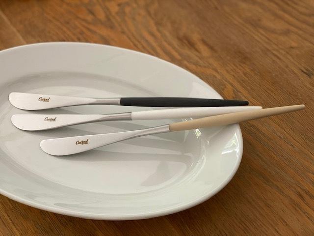 cutipol クチポール MIO ミオ アイボリー×シルバー ディナーナイフ