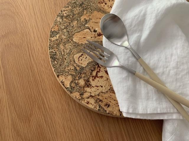cutipol クチポール MIO ミオ アイボリー×シルバー ディナーフォーク テーブルスプーン