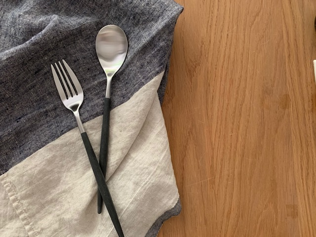 cutipol クチポール MIO ミオ ブラック×シルバー ディナーフォーク テーブルスプーン
