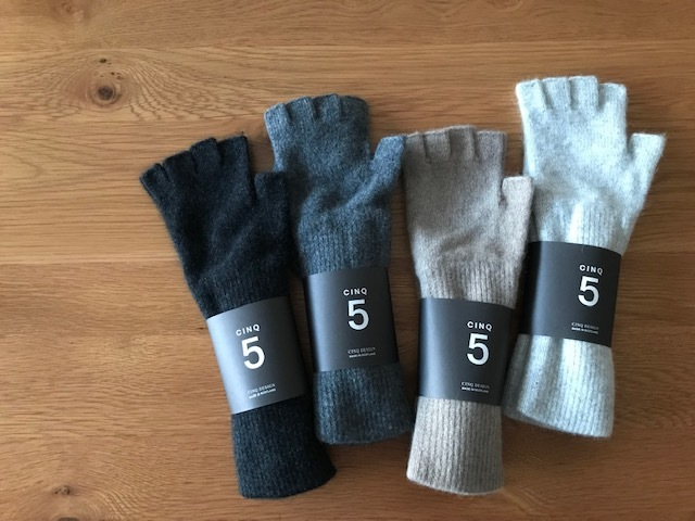 CINQ サンク スコットランド 指なし手袋