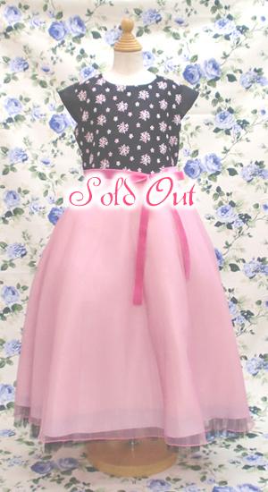子供ドレス ピンクパール