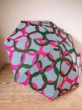 アフリカンプリントの晴雨兼用傘 リング