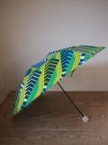 アフリカンプリントの晴雨兼用傘 折りたたみ式 柄A ハンドル・クリアボール
