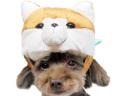 【メール便対応送料164円】秋田犬被り帽子S【KWA007-S】お正月お祝いパーティー仮装コスプレコスチューム帽子被り物