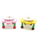 【食器&テーブルセット】フラワー食器台セット 小型犬用