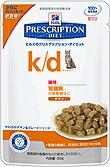 【1ケース】【療法食】【ヒルズ】【猫用】【パウチ】k/d  チキン入り パウチ 85g 12個入腎臓の管理に腎臓病  心臓病