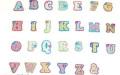 ラインストーン付ワッペンコレクションアルファベットシリーズ