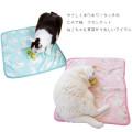 【メール便対応送料164円】CATブランケットブルー/ピンク猫柄猫用ペット用寝具