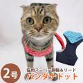 【メール便送料無料】【新商品】猫用スーパー胴輪&リードバンダナドット2号【ハーネス】