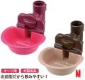 【新商品】リッチェルペット用ウォーターディッシュMピンク/ブラウン【犬猫水飲み給水器】