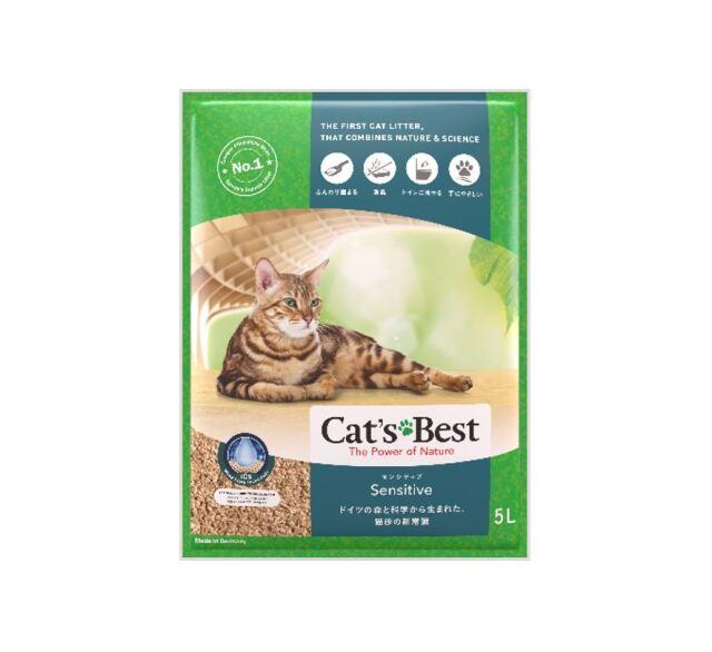 キャッツベスト センシティブ 水に流せる猫砂 5L ※1注文につきお一つ限り