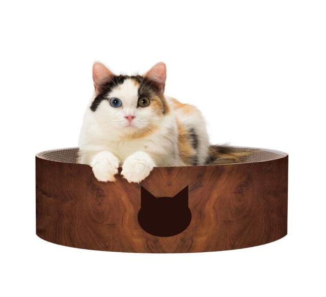 猫壱 バリバリボウル 猫柄  ダークブラウン