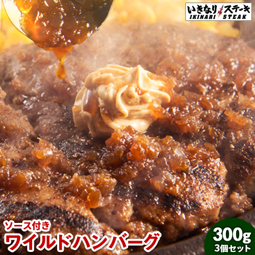 いきなりステーキ ワイルドハンバーグ300g3個セット ギフト 母の日 新生活 入学祝い