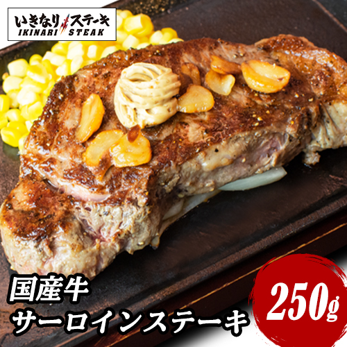 国産牛サーロインステーキ250g×1枚 牛肉 お肉 肉 いきなり!ステーキ 牛 熨斗対応 サーロイン【ギフト 父の日  ブロック 内祝い グルメ】