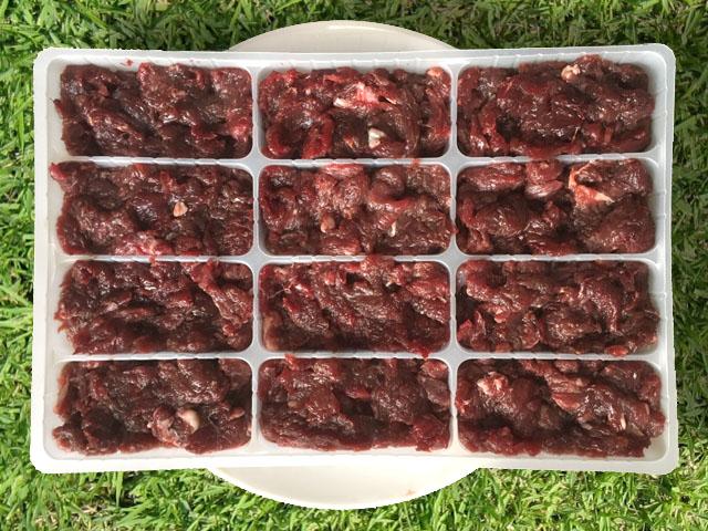 エゾ鹿肉 ひき肉 500g小分けパック(12食小分けトレー入り)