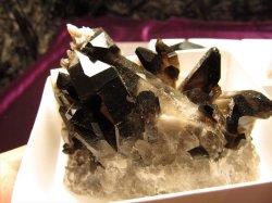 アーカンソー産黒水晶ミニクラスター
