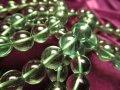 ◆激安◆極上透明!◆濃く鮮やかなグリーン!◆グラム80円◆グリーンフローライト【蛍石】ブレスレット◆12-12.5mm×17珠前後◆【アメリカ産】