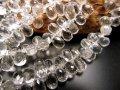 ◆宝石質アクセサリーパーツ◆ティアドロップカット◆水晶◆ワイヤー用【穴径約0.3mm】◆縦約7mm×横約4mm◆【ブラジル産】