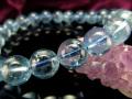 ◆極上ブルー!美しい海の宝石◆透明感抜群◆美しい若さと幸せな喜びの象徴◆1点物◆グラム1200円◆天使の石◆アクアマリンブレスレット◆8.5-9mm×22珠◆【ブラジル産】
