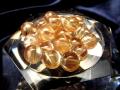 ★希少石★極上・透明★濃いめのゴールドカラー★1珠販売★透明アンデシン ビーズ石★7-7.5mm珠★【チベット産】