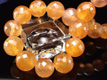 ◆数量限定入荷◆透明感抜群!キラキラカット◆ガネーシャが宿る石◆富と幸福・愛情をもたらす◆木星の象徴◆世界4大宝石の1つ◆グラム1480円◆1点物◆プクラジストーン【イエローサファイア】カットブレスレット◆約10.5mm×21珠◆内径約18cm◆【スリランカ産】