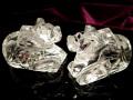 ◆超透明!◆5A極上透明ヒマラヤ水晶使用!◆ツーソン展示会商品◆強力な浄化作用・幸福の御守り◆シヴァ神の乗り物◆5Aヒマラヤ水晶牡牛のナンディ像◆約16-19g◆【インド産】