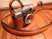 オーダーメイド品 オリンパス PEN EE オイルレザーカメラケース&ストラップ