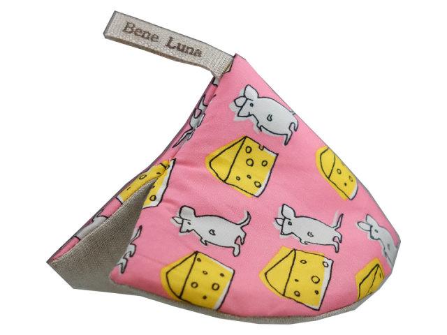 マンマの鍋つかみ ツカミーナ【ネズミとチーズ/ピンク】