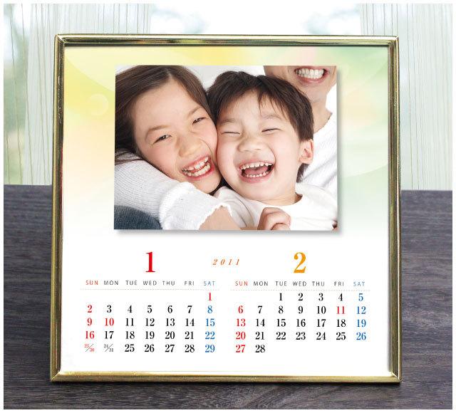 愛情カレンダー【光り】 《還暦祝いや記念日のプレゼントに最適!想い出の写真で作るリッチなオリジナルカレンダー》