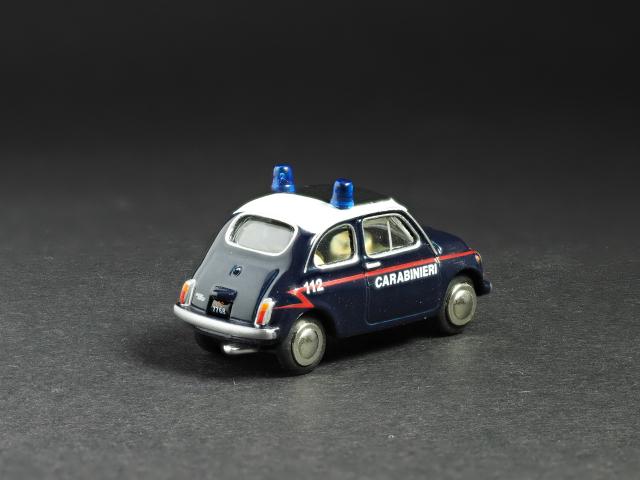PremiumClassiXXs1/87 FIAT500イタリア警察_後