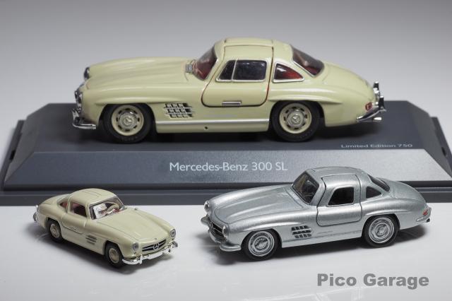 シュコー1/87メルセデスベンツ300SL(ホワイト)3台セット