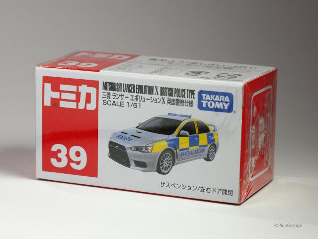 トミカ 39 三菱ランサーエボリューションX 英国警察仕様