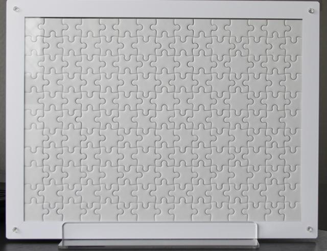 【専用額】白裏地パズル用透明アクリルフレームLサイズ