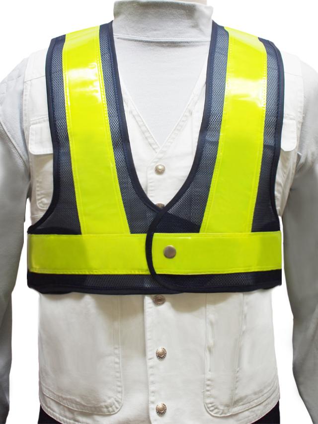 とび職/建設工事用ショート安全ベスト(全3色)